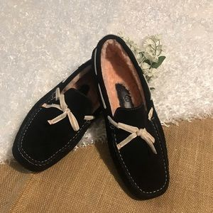 Cole Haan Black Suede Oslo Slippers - Size 7.5